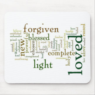 Who I am in Christ Light Colors Mouse Pad