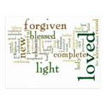 Who I am in Christ Light Colors Postcard