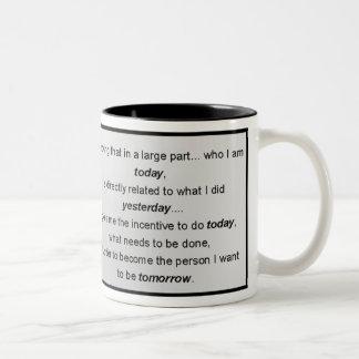 Who I Am Today Inspirational Verse Two-Tone Coffee Mug