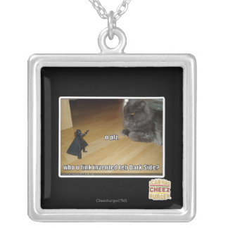 Who invented the dark side? silver plated necklace