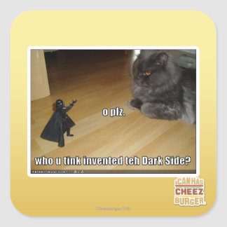 Who invented the dark side? square sticker