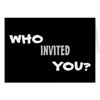 Who Invited You? Party Invitation