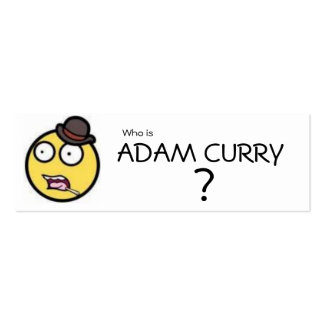 Who is ADAM CURRY? Bookmark Business Card Templates