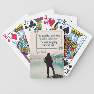 Who Is Going To Stop Me Bicycle Playing Cards