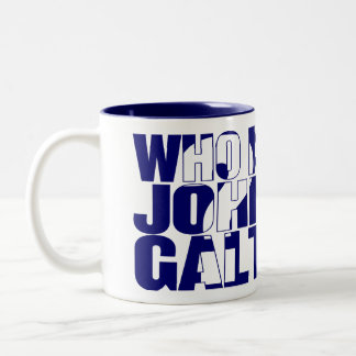 Who is John Galt? 11oz mug blue