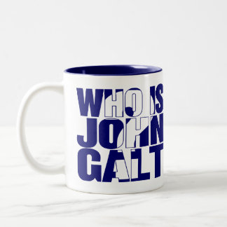 Who is John Galt? 15oz mug blue