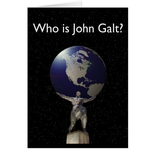 Who is John Galt? - Atlas with Globe Cards