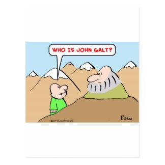 who is john galt ayn rand objectivism postcard