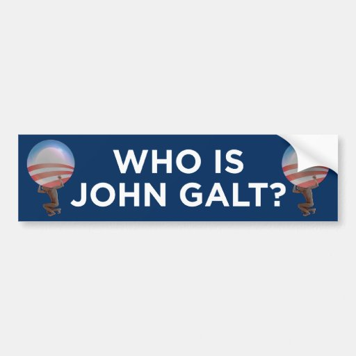 Who Is John Galt Bumper Sticker Car Bumper Sticker