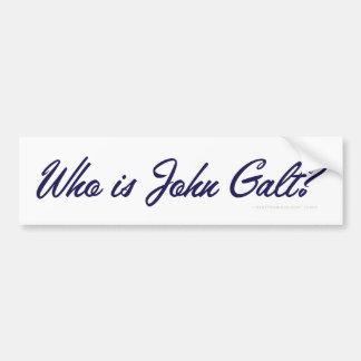 Who is John Galt? Bumper Sticker Car Bumper Sticker