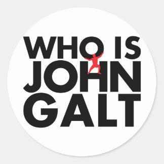Who is John Galt Classic Round Sticker
