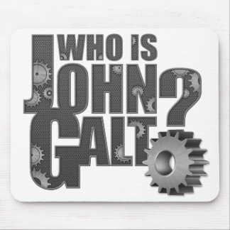 Who is John Galt? Gears Mouse Pad
