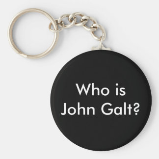 Who is John Galt? keychain