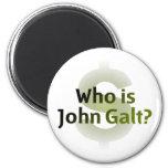 Who Is John Galt? Money Symbol 2 Inch Round Magnet