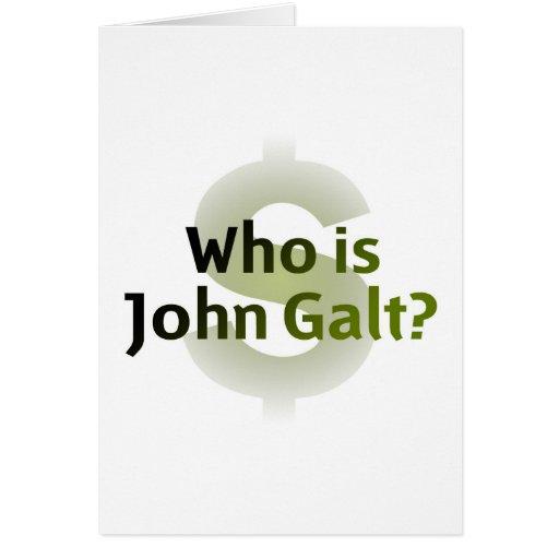 Who Is John Galt? Money Symbol Greeting Card