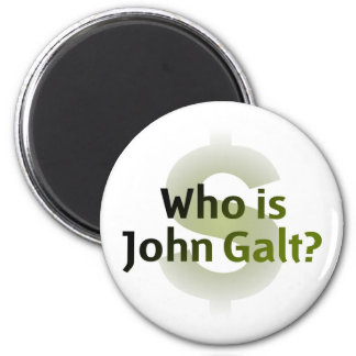 Who Is John Galt? Money Symbol Magnet