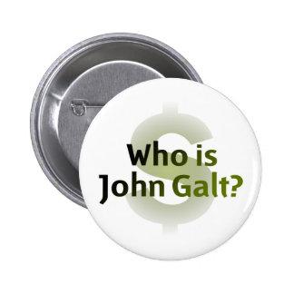Who Is John Galt? Money Symbol Pinback Button