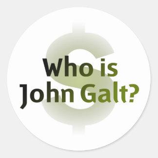 Who Is John Galt Money Symbol Round Stickers