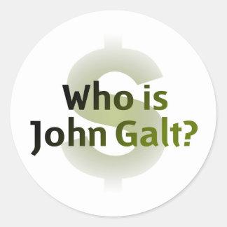 Who Is John Galt Money Symbol Round Sticker