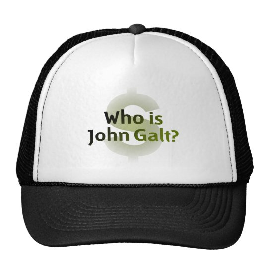 Who Is John Galt? Money Symbol Trucker Hat