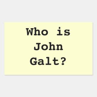 Who is John Galt? Rectangular Sticker
