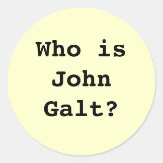 Who is John Galt Round Stickers