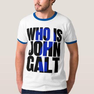 Who is John Galt? t-shirt, blue T-Shirt