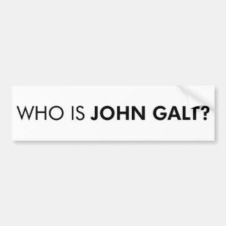 Who Is John Galt? The Question Car Bumper Sticker