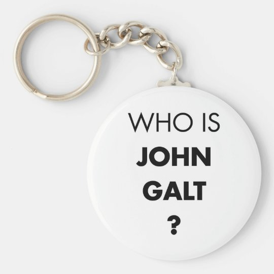 Who Is John Galt? The Question Keychain