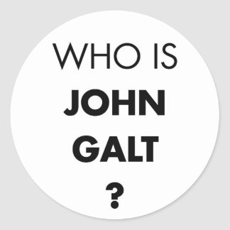 Who Is John Galt? The Question Sticker