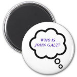 WHO IS JOHN GALT? Thought Cloud 2 Inch Round Magnet