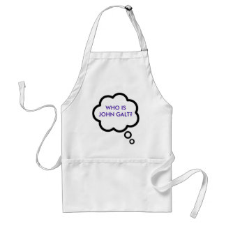 WHO IS JOHN GALT? Thought Cloud Adult Apron