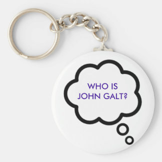 WHO IS JOHN GALT? Thought Cloud Keychain