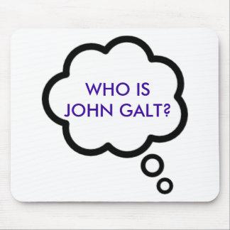 WHO IS JOHN GALT? Thought Cloud Mousepads