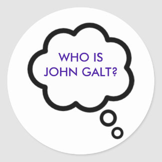 WHO IS JOHN GALT Thought Cloud Stickers