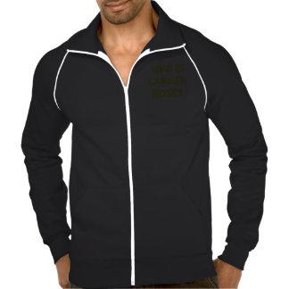 Who is Larken Rose? Men's Fleece Jacket, Black Printed Jacket