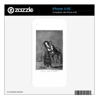 Who is more overcome? by Francisco Goya Skin For The iPhone 4S