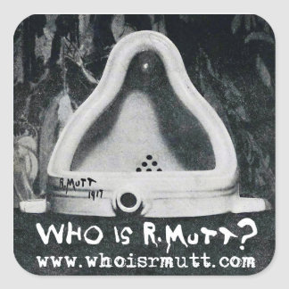 """Who is R. Mutt """"Fontaine"""" Sticker"""