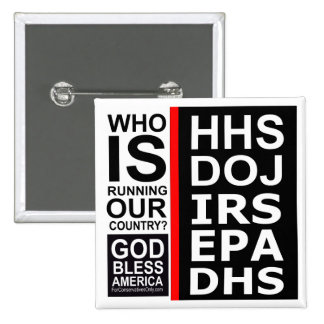 Who is Running Our Country? Pinback Button