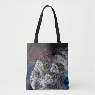 Who is that Cat and Owls Tote Bag
