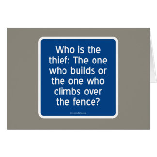 Who is the thief? card