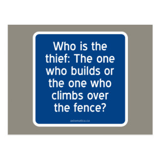 Who is the thief postcard