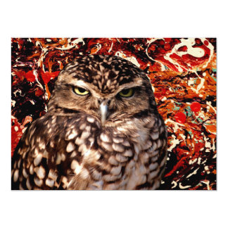 WHO IS YOUR DADDY? (Owl art design) ~ 6.5x8.75 Paper Invitation Card