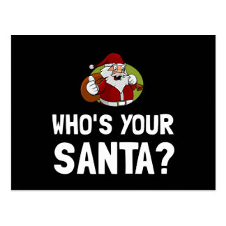 Who Is Your Santa Postcard
