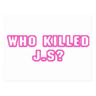 Who Killed J.S? Postcard
