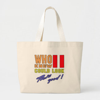 Who knew 11 could look good this ! jumbo tote bag