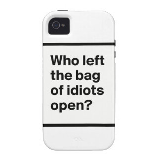 Who Left The Bag Of Idiots Open? Case-Mate iPhone 4 Case