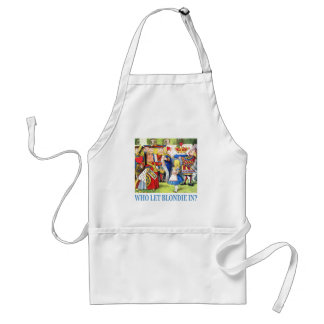 Who Let Blondie In? Adult Apron