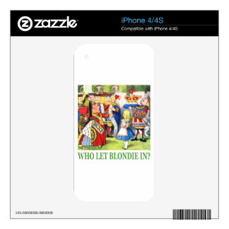 Who Let Blondie In? Decals For The iPhone 4S