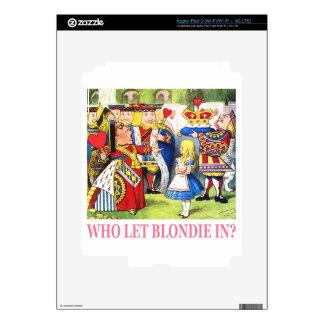 Who Let Blondie In? iPad 3 Skin